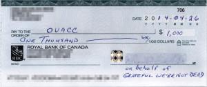 GWND OVACC Donation 2014